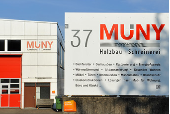 """2006 Neugründung """"Die Schreinerei Muny GmbH"""""""