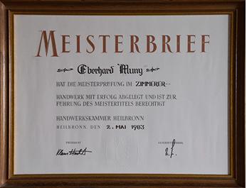 1984 Gründung der Holzbau Muny GmbH